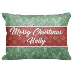 """Christmas Holly Decorative Baby Pillowcase - 16""""x12"""" (Personalized)"""
