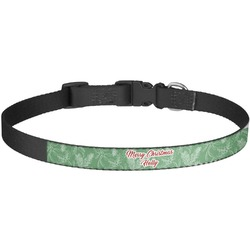 Christmas Holly Dog Collar - Large (Personalized)