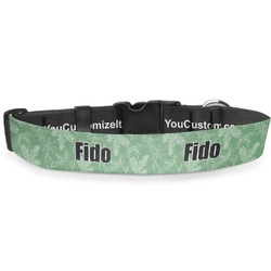 """Christmas Holly Deluxe Dog Collar - Small (8.5"""" to 12.5"""") (Personalized)"""