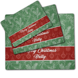 Christmas Holly Dog Food Mat w/ Name or Text