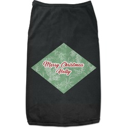 Christmas Holly Black Pet Shirt - XL (Personalized)