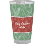Christmas Holly Drinking / Pint Glass (Personalized)