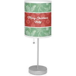 """Christmas Holly 7"""" Drum Lamp with Shade Polyester (Personalized)"""