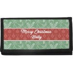 Christmas Holly Canvas Checkbook Cover (Personalized)