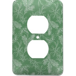 Christmas Holly Electric Outlet Plate (Personalized)