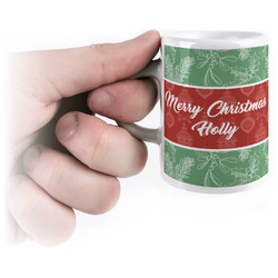 Christmas Holly Espresso Cups (Personalized)