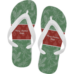 Christmas Holly Flip Flops (Personalized)