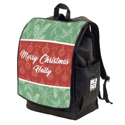 Christmas Holly Backpack w/ Front Flap  (Personalized)