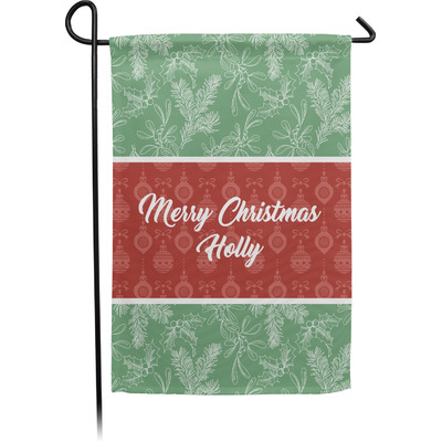 Christmas Holly Garden Flag - Single or Double Sided (Personalized)