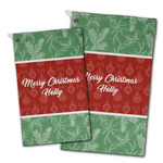 Christmas Holly Golf Towel - Full Print w/ Name or Text