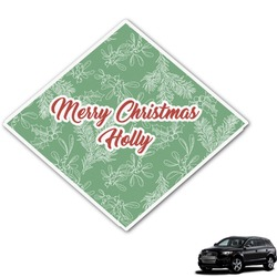 Christmas Holly Graphic Car Decal (Personalized)