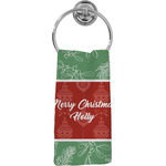 Christmas Holly Hand Towel - Full Print (Personalized)