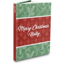 Christmas Holly Hardbound Journal (Personalized)