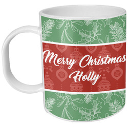 Christmas Holly Plastic Kids Mug (Personalized)