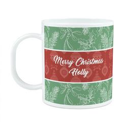 Christmas Holly Plastic Kids Mug (Personalized)
