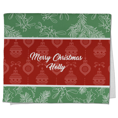 Christmas Holly Kitchen Towel - Full Print (Personalized)