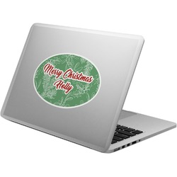 Christmas Holly Laptop Decal (Personalized)