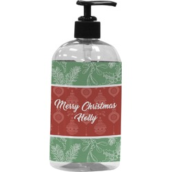 Christmas Holly Plastic Soap / Lotion Dispenser (Personalized)