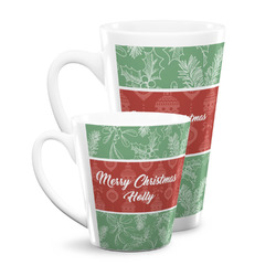 Christmas Holly Latte Mug (Personalized)