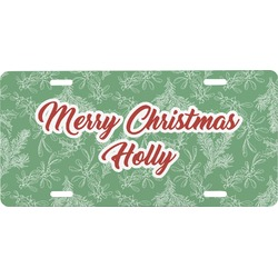 Christmas Holly Front License Plate (Personalized)