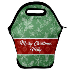 Christmas Holly Lunch Bag (Personalized)