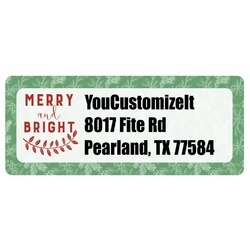 Christmas Holly Return Address Labels (Personalized)