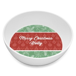 Christmas Holly Melamine Bowl 8oz (Personalized)