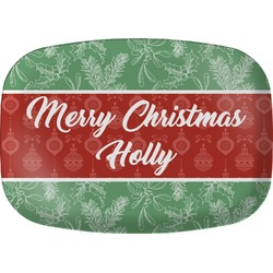 Christmas Holly Melamine Platter (Personalized)