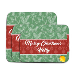 Christmas Holly Memory Foam Bath Mat (Personalized)