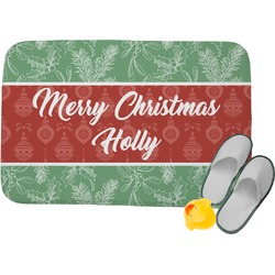 Christmas Holly Memory Foam Bath Mat (Personalized)