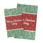 Christmas Holly Microfiber Golf Towel (Personalized)