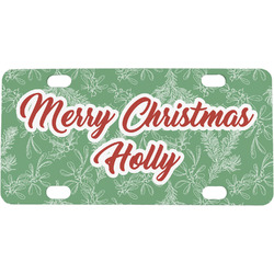 Christmas Holly Mini / Bicycle License Plate (Personalized)