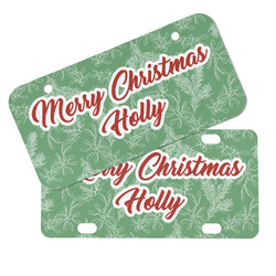 Christmas Holly Mini/Bicycle License Plates (Personalized)