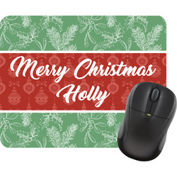 Christmas Holly Mouse Pad (Personalized)