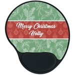 Christmas Holly Mouse Pad with Wrist Support