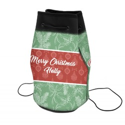 Christmas Holly Neoprene Drawstring Backpack (Personalized)