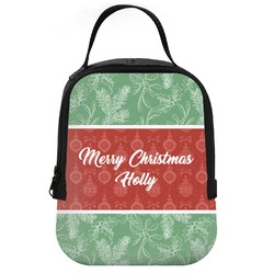 Christmas Holly Neoprene Lunch Tote (Personalized)