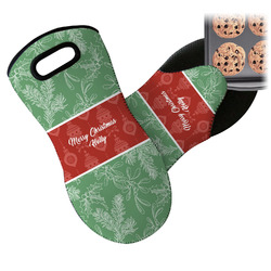 Christmas Holly Neoprene Oven Mitt (Personalized)