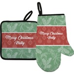 Christmas Holly Oven Mitt & Pot Holder (Personalized)