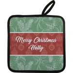 Christmas Holly Pot Holder w/ Name or Text