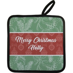 Christmas Holly Pot Holder (Personalized)