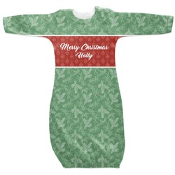 Christmas Holly Newborn Gown - 3-6 (Personalized)