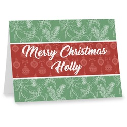 Christmas Holly Notecards (Personalized)