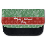 Christmas Holly Canvas Pencil Case w/ Name or Text
