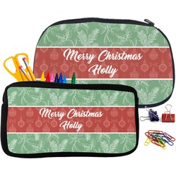 Christmas Holly Neoprene Pencil Case (Personalized)