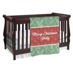 Christmas Holly Baby Blanket (Personalized)