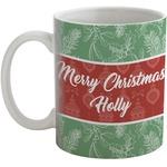 Christmas Holly Coffee Mug (Personalized)
