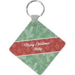Christmas Holly Diamond Key Chain (Personalized)