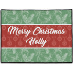 Christmas Holly Door Mat (Personalized)