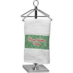 Christmas Holly Cotton Finger Tip Towel (Personalized)